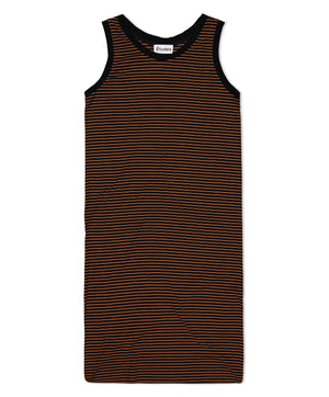 Black/Orange Deluxe Long Tank Dress
