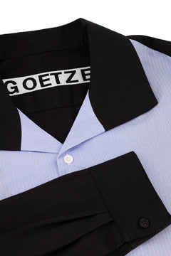Blue/Black Dylan Pinstripe Shirt