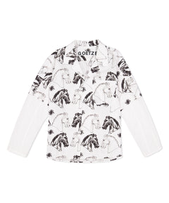 Black/White Larry Horse Print Shirt