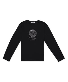 Black Panorama Long Sleeve T-Shirt
