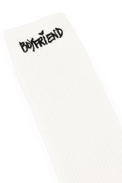 White Boyfriend Socks
