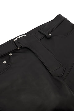 Black Luke Leather Biker Trouser