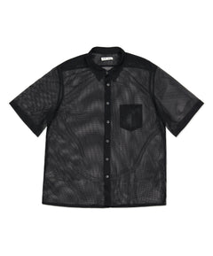 Black Neils Single Pocket Mesh Shirt