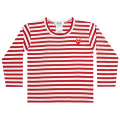 Red/White Kids Long Sleeve T-Shirt