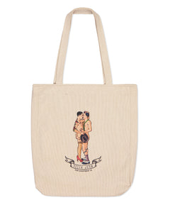 Beige Felix D'Eon X Apartment25 Lovers Printed Tote Bag