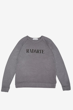 Grey/Black Text Radarte Sweatshirt