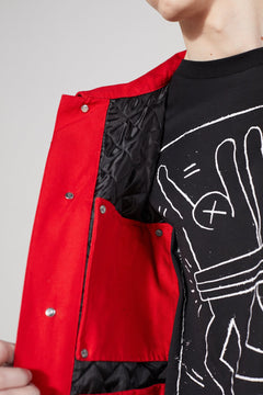 Red Timeline Keith Haring X MTA Jacket