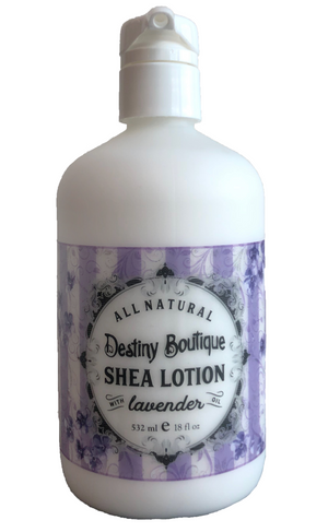 Natural Shea lotion made of shea butter with lavender oil