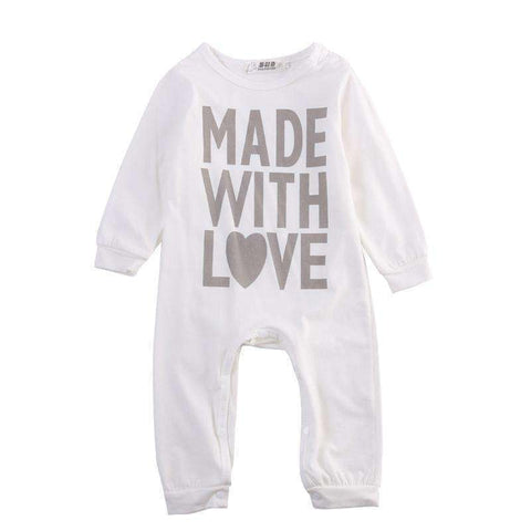 LuxKick Store:Made With Love:White / 0-3 months