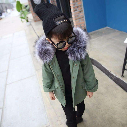 LuxKick Store:Army Green Parka