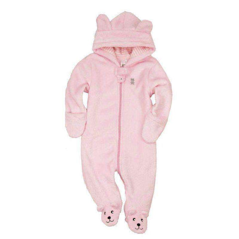 Hooded Pink Bear - LuxKick Baby Boutique
