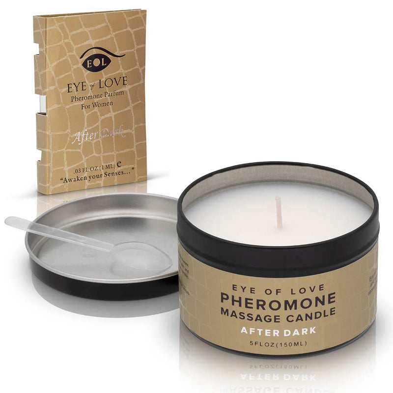 After Dark Pheromone Massage Candle + Free Pheromone Parfum Sample