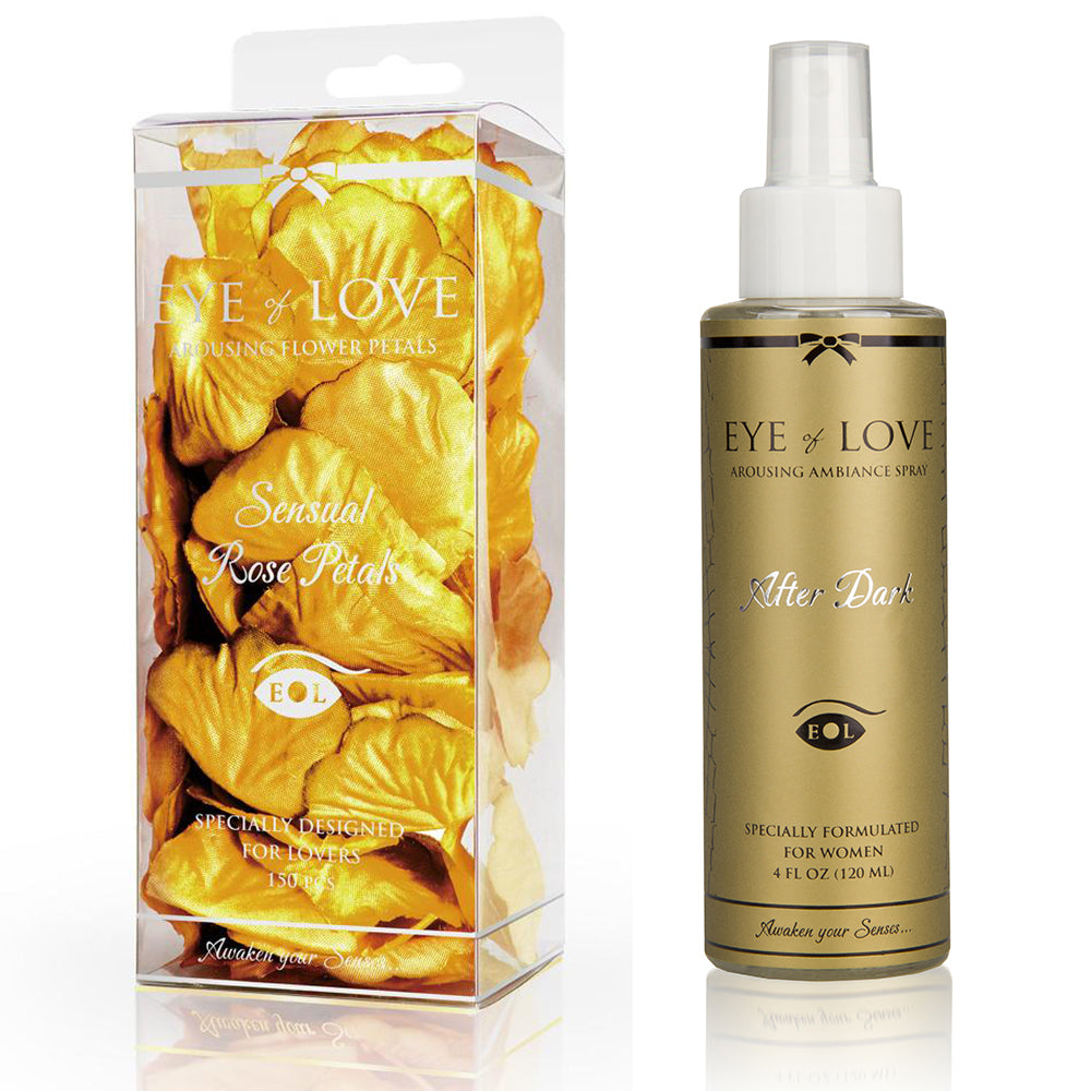 After Dark Pheromone Sheet Spray & Rose Petals