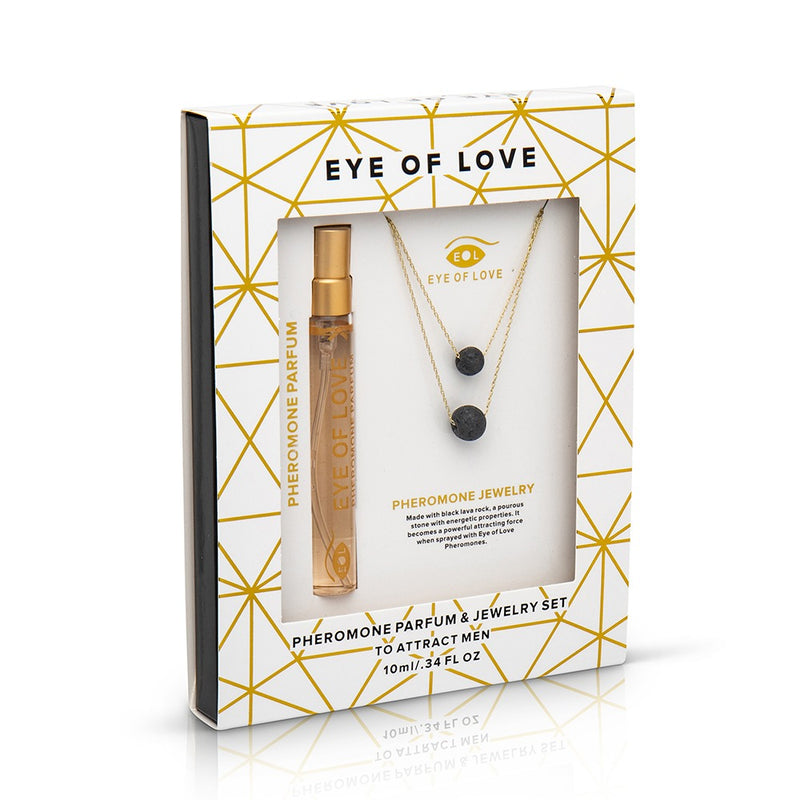 Gold Double Drop Pheromone Necklace Gift Set