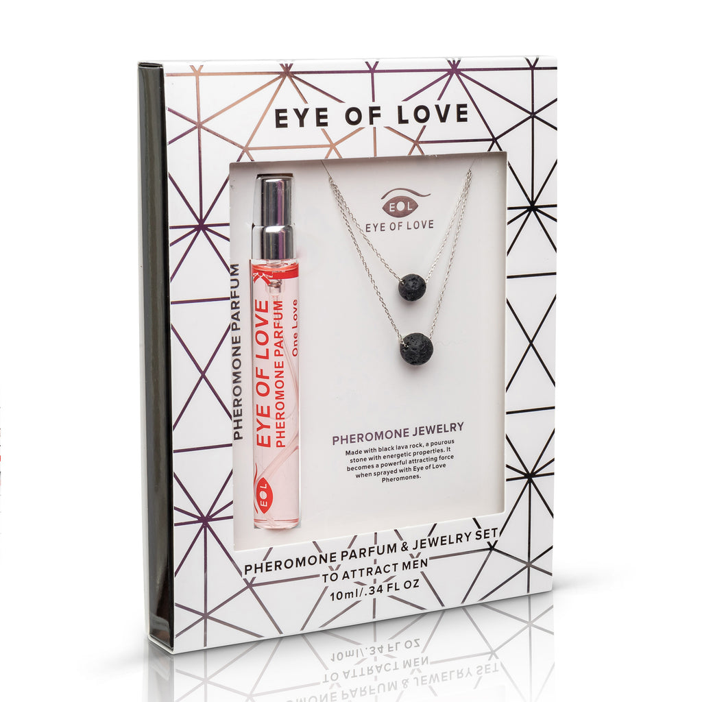 Pheromone Silver Double Drop Gift Set