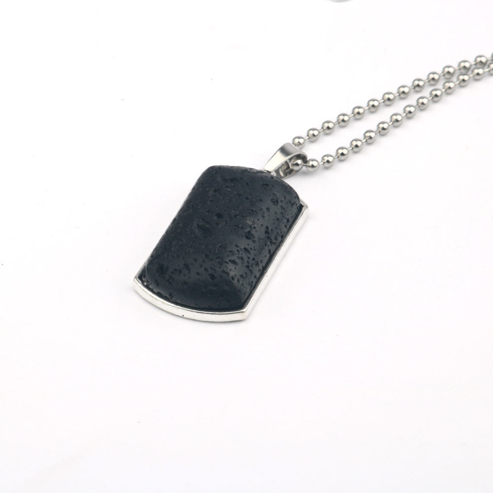 Pheromone Dogtag Necklace - Silver