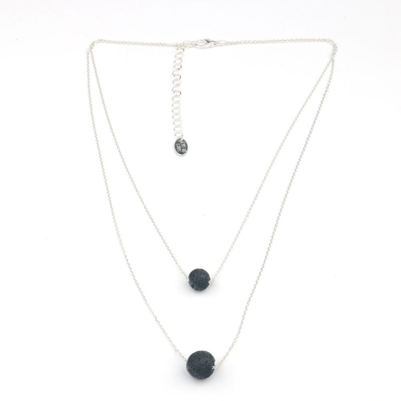 Pheromone Two Layer Necklace - Silver