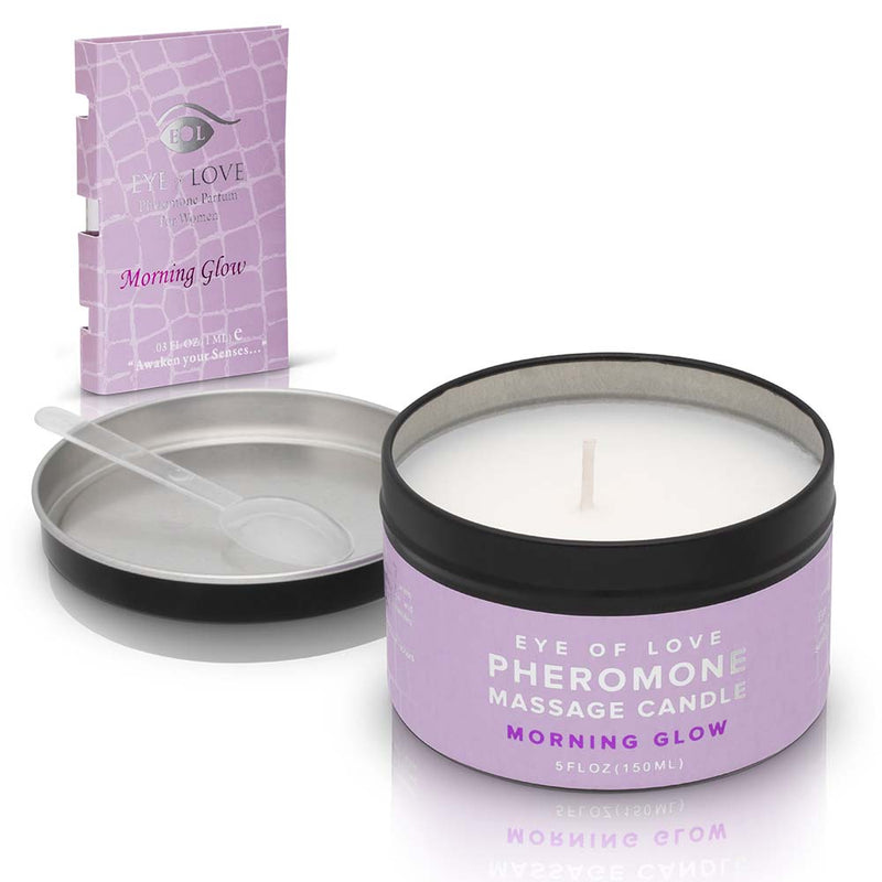 Morning Glow Massage Candle + Free Pheromone Parfum Sample