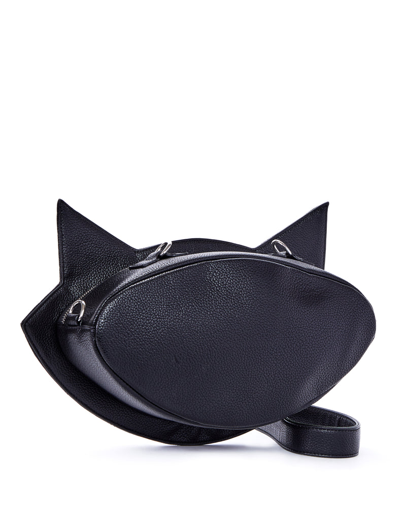 Black Matte Meowzer Handbag - Mini Atomic Totes