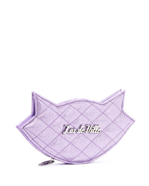 Meowzer Clutch Wallet Luscious Lilac Sparkle - Mini Atomic Totes