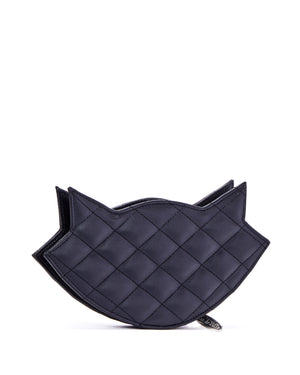 Meowzer Clutch Wallet Black Matte - Mini Atomic Totes