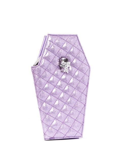 Elvira Coffin Wallet Clutch Luscious Lilac Sparkle - Mini Atomic Totes