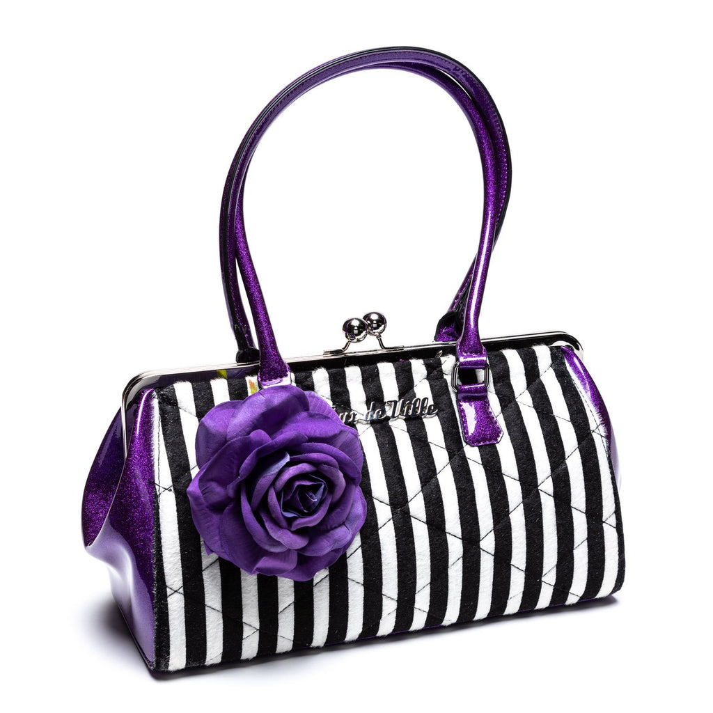 Poisonous Purple Stripe Valentine Kisslock