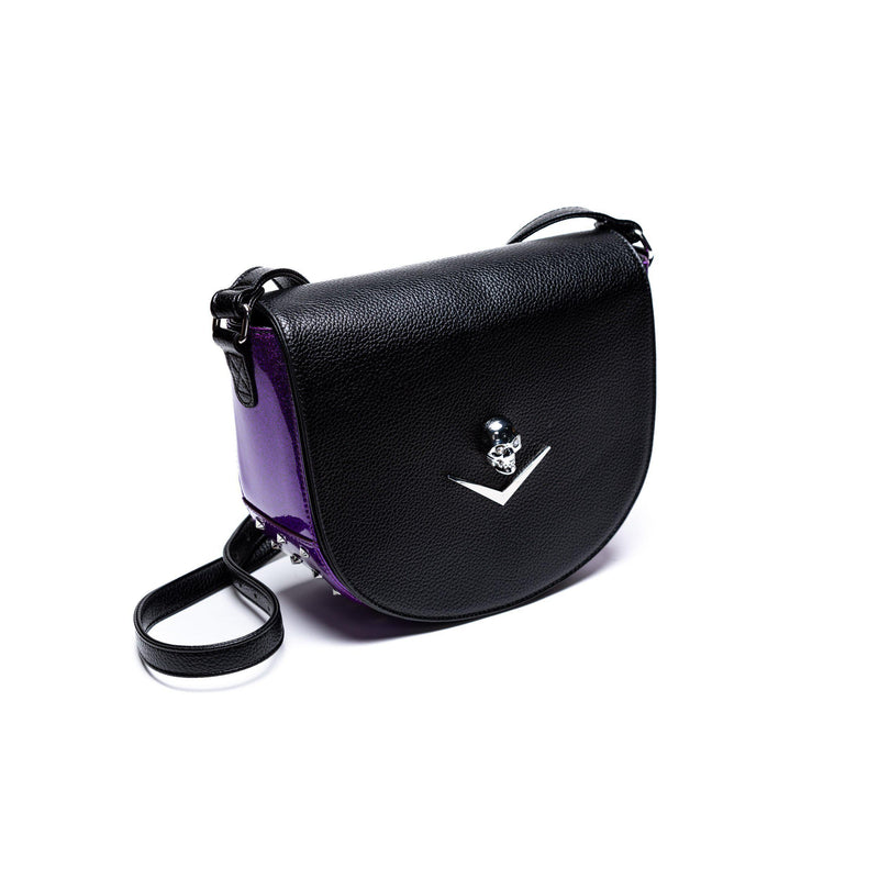 Black & Poisonous Purple Wicked Saddle Bag