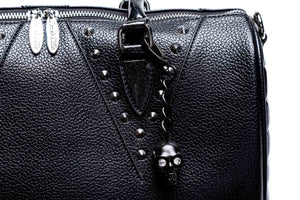 Black Matte & Midnight Sparkle Vampire  Medium Tote