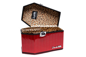 Red Rum Sparkle DeVille Coffin Case