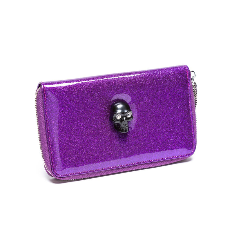 Poisonous Purple Sparkle Spooky Wallet