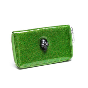 Monster Green  Sparkle Spooky Wallet