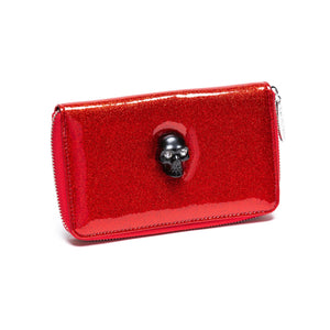 Red Rum Sparkle Spooky Wallet