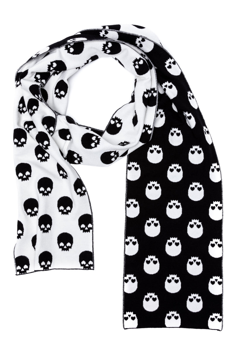 Black & White Skull Scarf