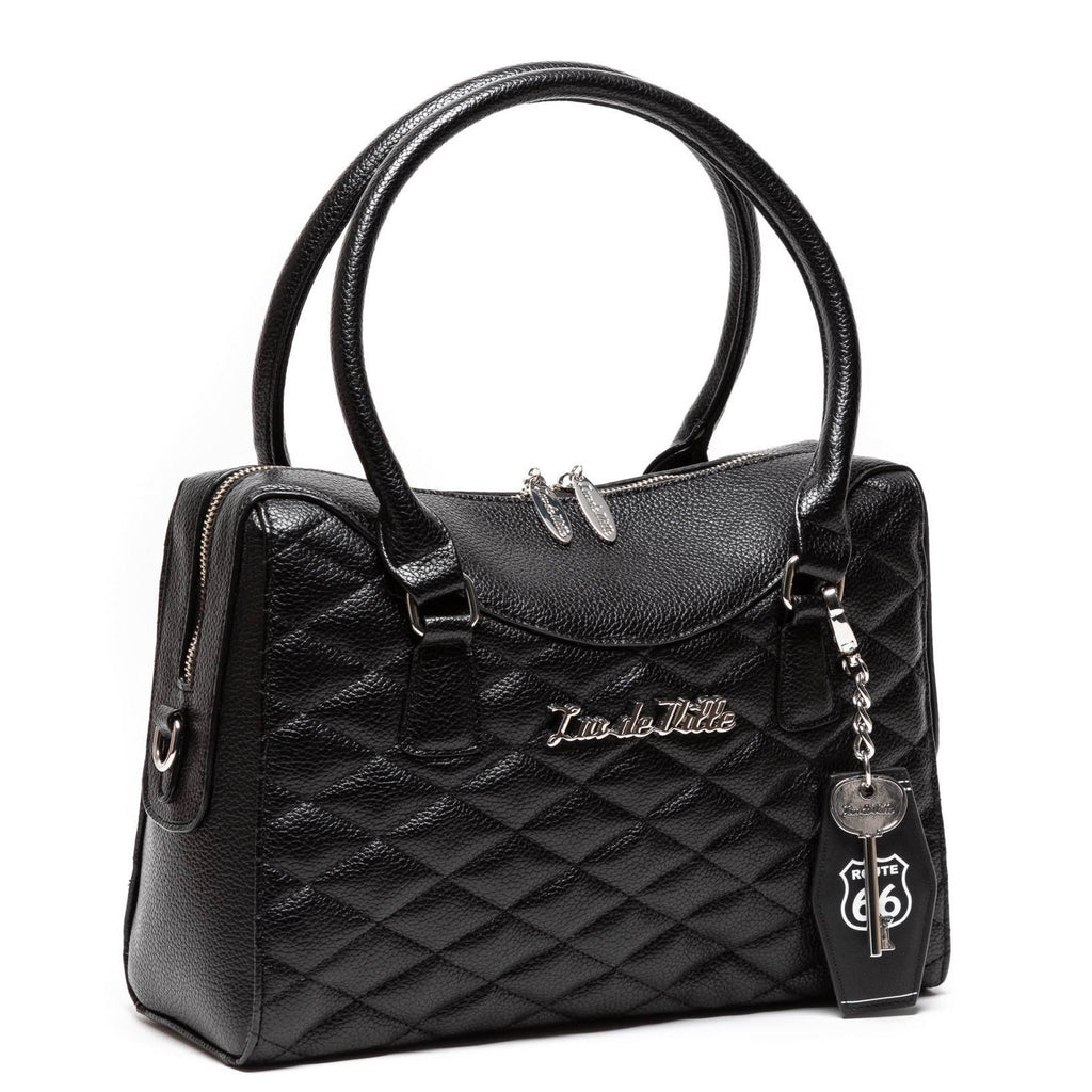 Black Matte Route 66 Handbag Tote