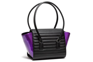 Black Matte with Poisonous Purple Romeo Tote