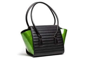 Black Matte & Monster Green Sparkle Romeo Tote