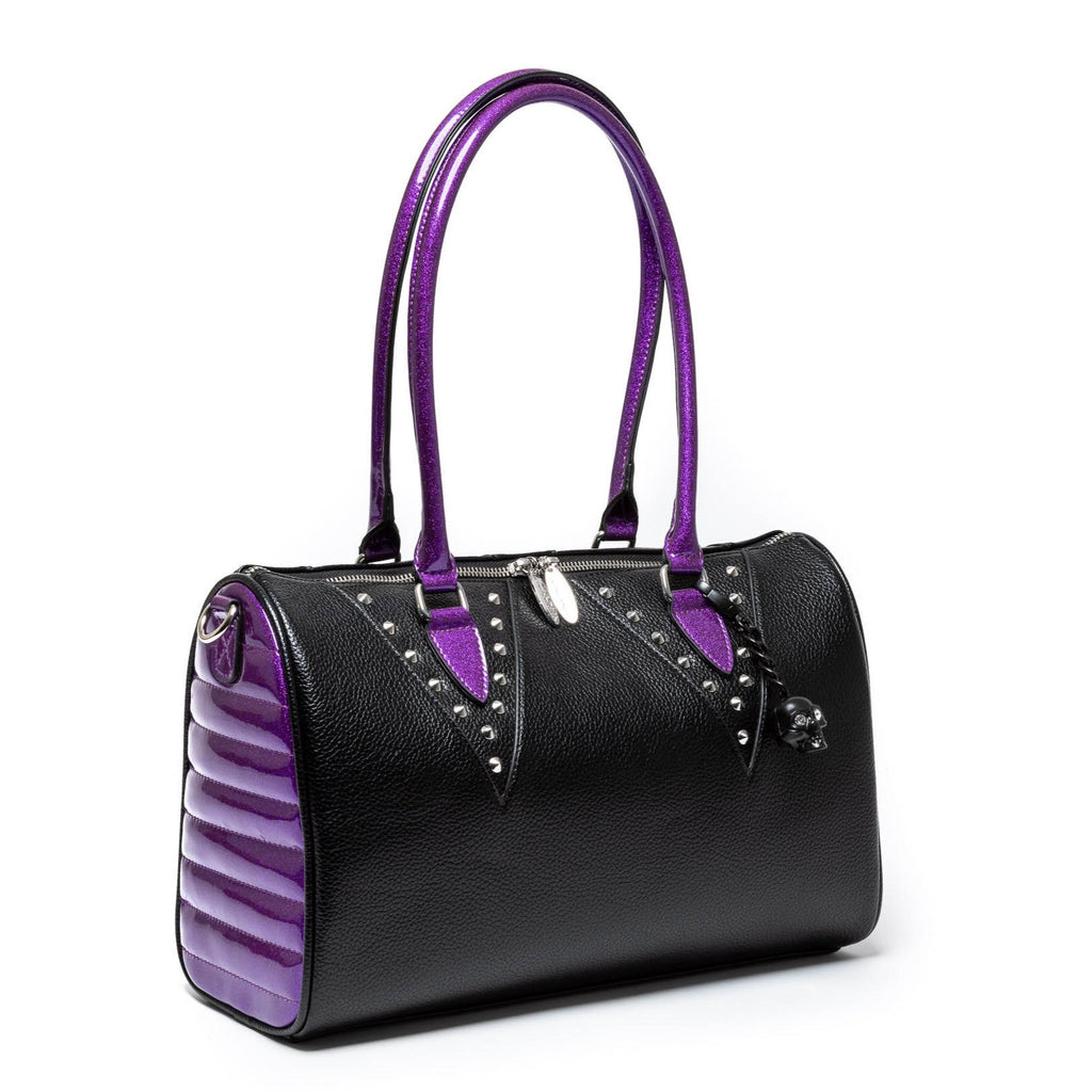 Black Matte & Poisonous Purple Vampire Tote