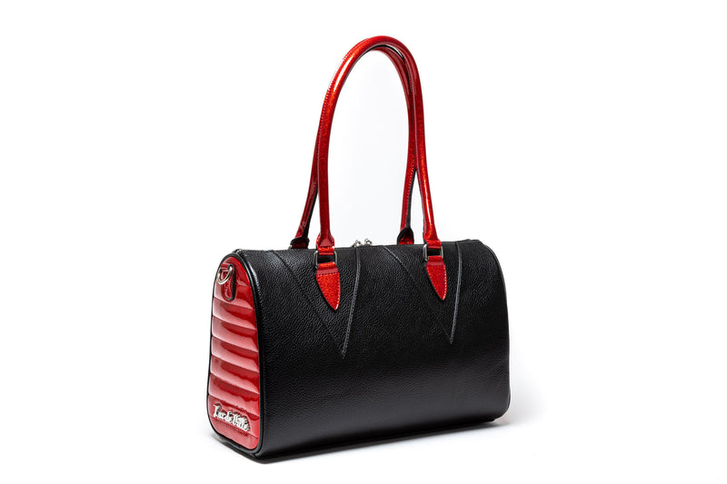 Black Matte & Red Rum Sparkle Vampire Tote
