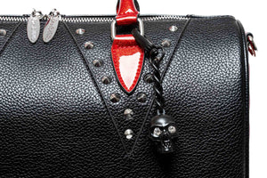 Black Matte & Red Rum Sparkle Vampire  Medium Tote