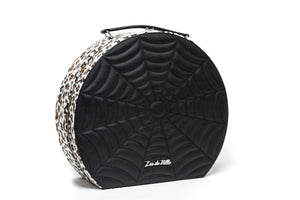Haunted Giant Hatbox Black Matte with Leopard