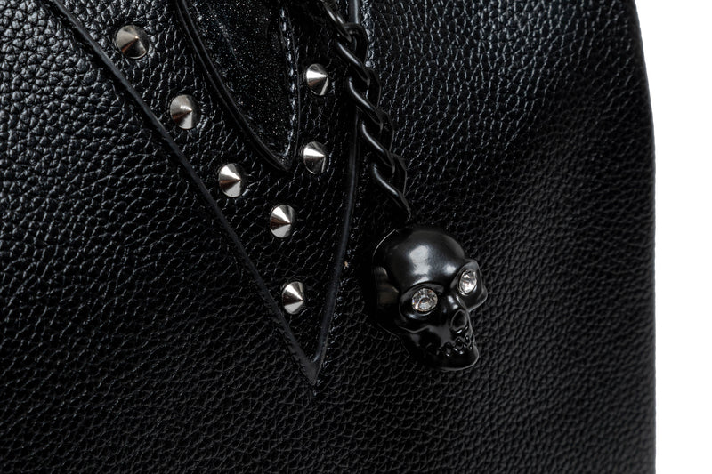 Large Midnight Sparkle & Black Matte Vampire Tote