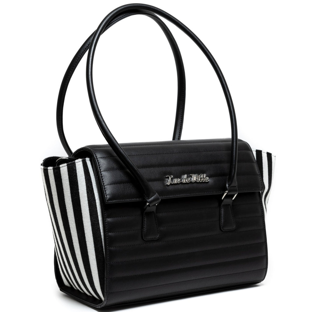 Large Black & Striped Romeo Tote