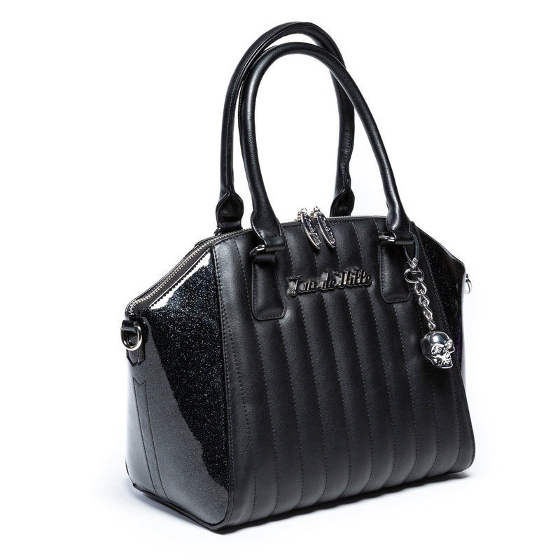 Midnight Sparkle & Black Matte Lady Vamp Handbag