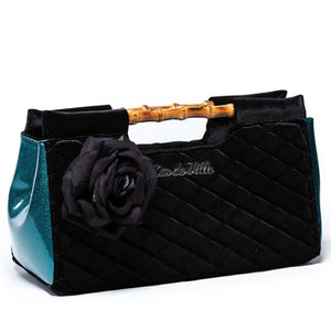 Endless Sea Sparkle & Black Velvet Paradise Clutch