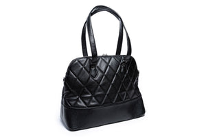 Black Matte Trixie Large Tote