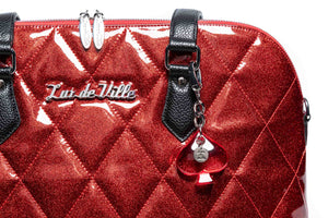 Medium Red Rum Sparkle & Black Trixie Tote