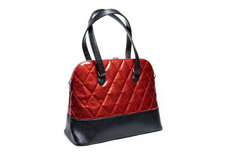 Red Rum Sparkle Large Trixie Tote