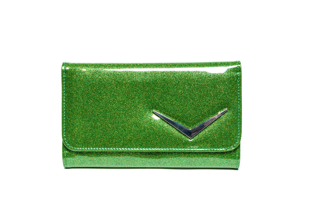 Monster Green Sparkle Getaway Wallet