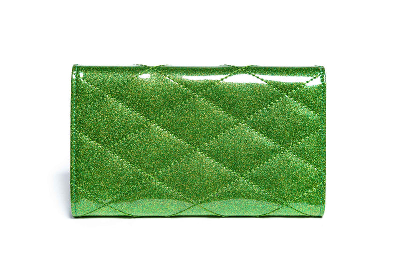 Monster Green Sparkle Route 66 Wallet